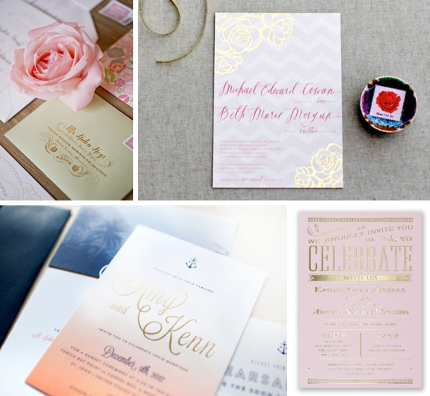 Foil Stamped Wedding Invitations: 2013 Wedding Trends: Foil Stamped Invitations