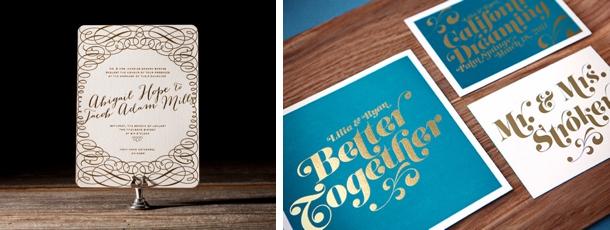 wedding trends foil stamped invitations, invitation samples