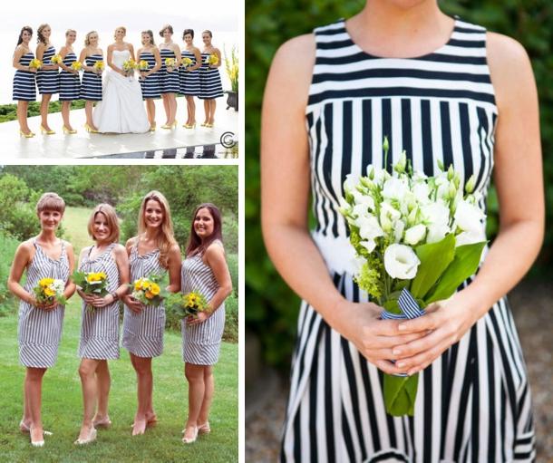 Green Striped Bridesmaid Dress - Wedding Dress Ideas