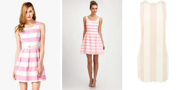 Southboundbride striped bridesmaid dresses monochrome 006 for Striped bridesmaid dresses wedding