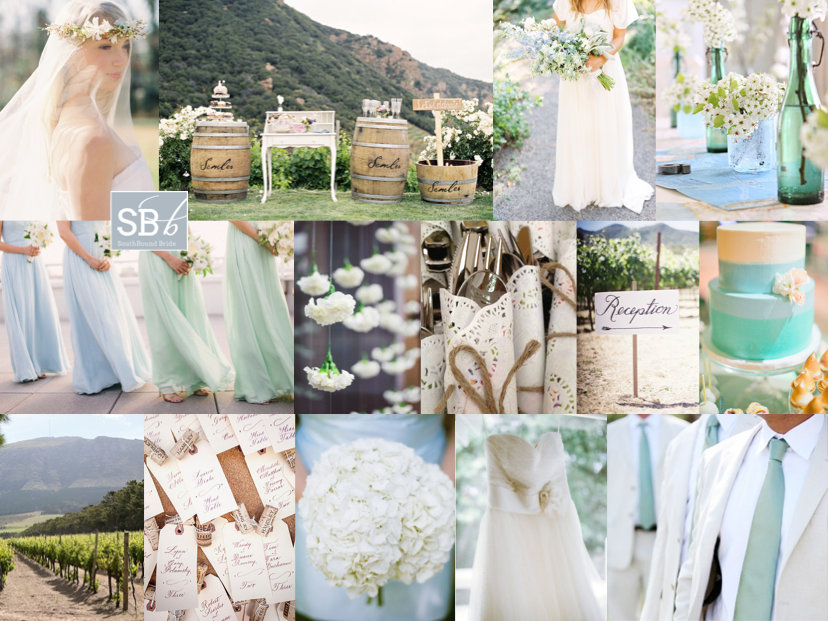 Blue and Green Sea Inspired Wedding Palette