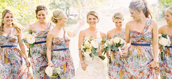 Floral Print Bridesmaid Dresses