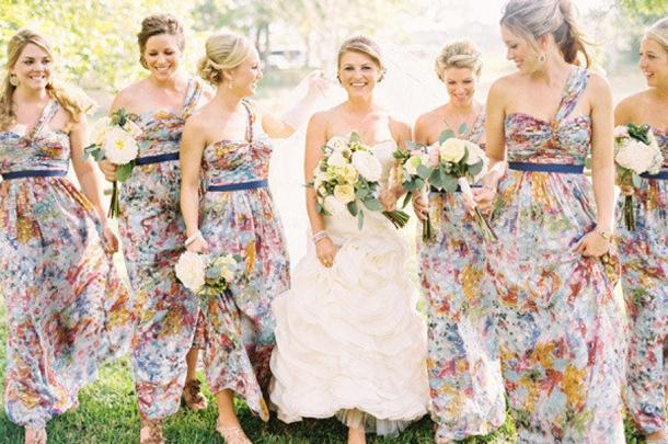 Fl Print Bridesmaid Dresses