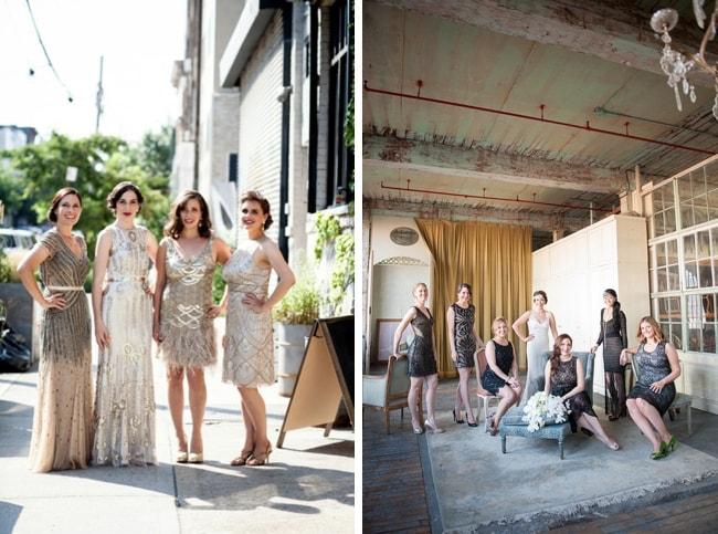 1920s Bridesmaid Dresses