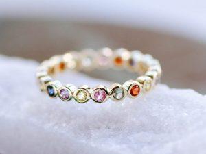 rainbow wedding ring