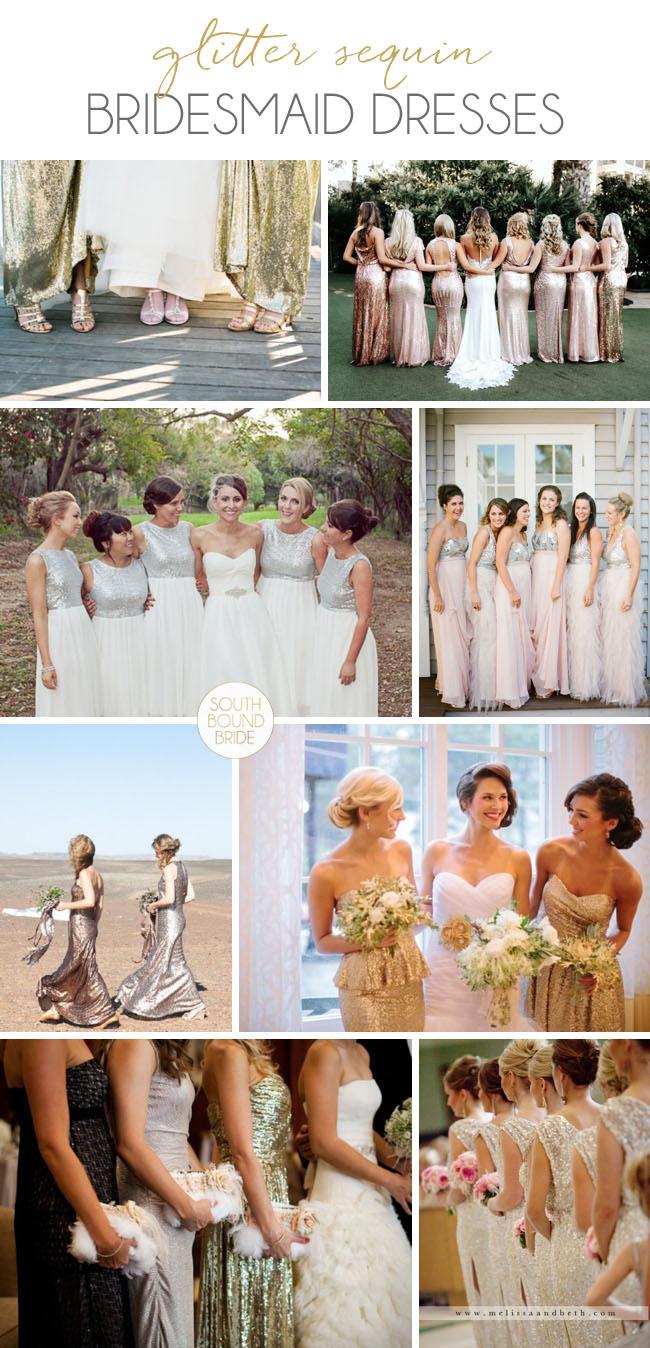 Sequin Bridesmaid Dresses | SouthBound Bride