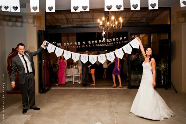 Black Amp White Monogram Wedding By Nastassja Harvey
