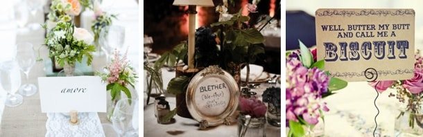 Clever Wedding Table Names