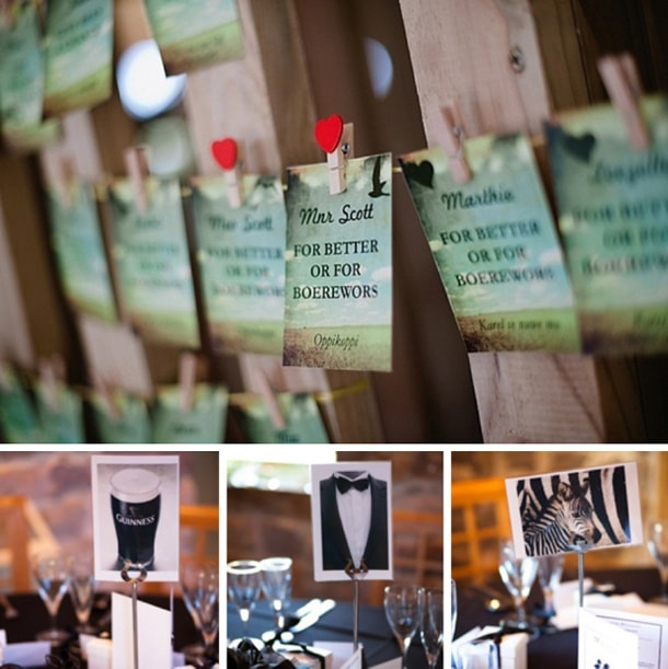 Funny Wedding Table Names
