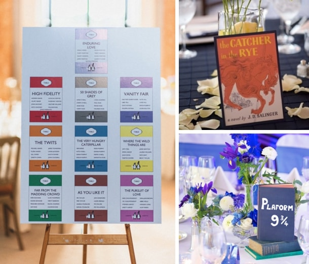 Literary Wedding Table Names