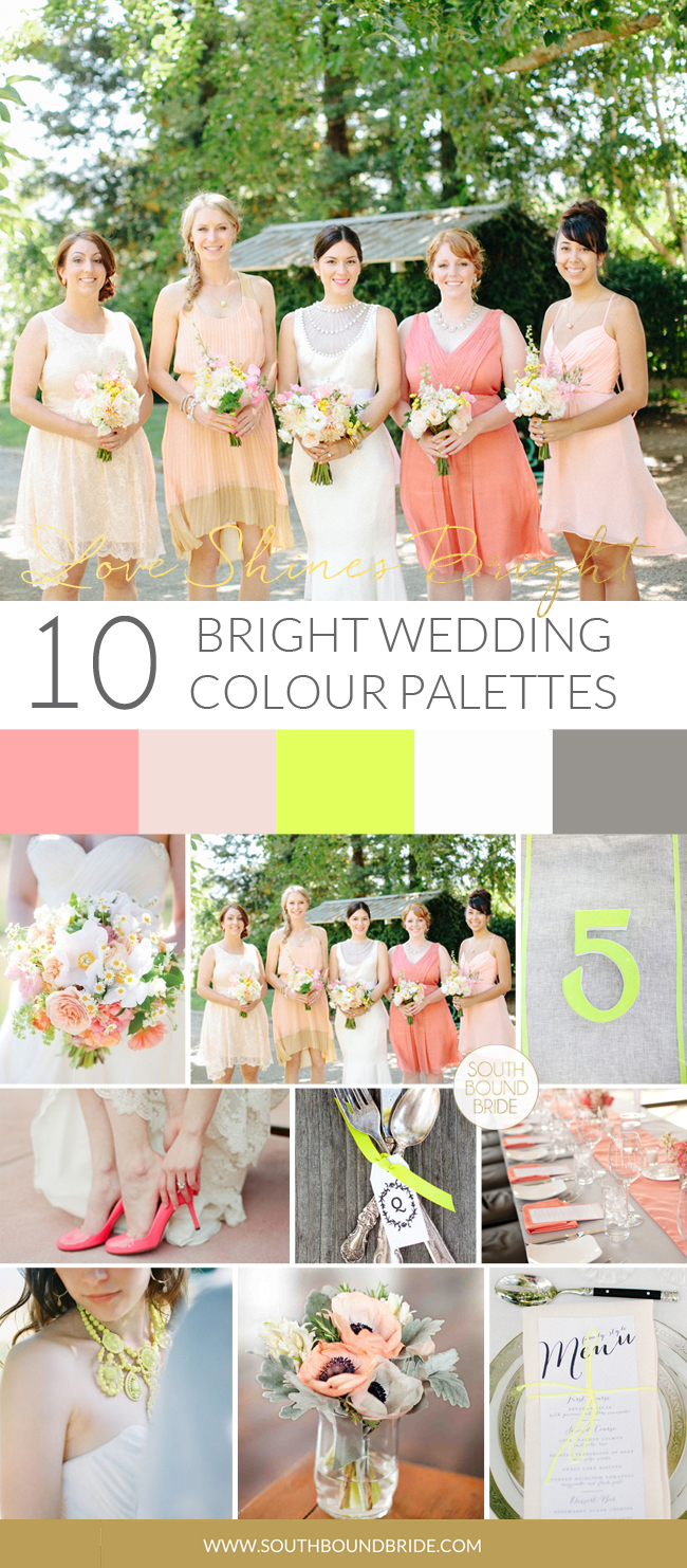Neon Rustic Wedding Inspiration Board   SouthBound Bride