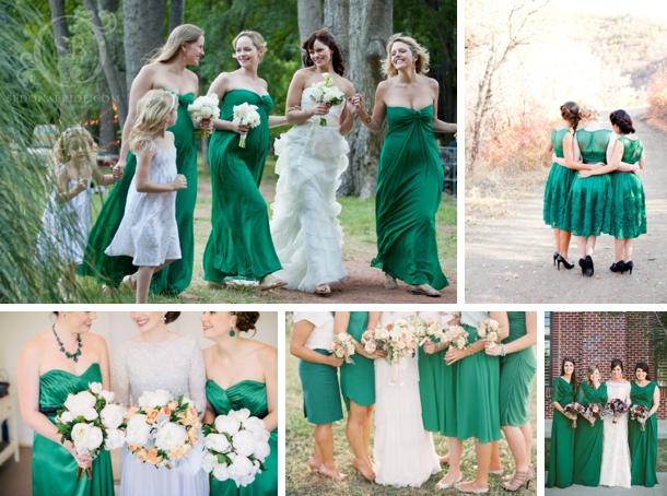 Emerald Bridesmaid Dresses 01 Southbound Bride
