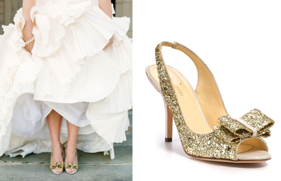 Sparkly wedding shoes from kate spade kate spade a love letter junglespirit Images