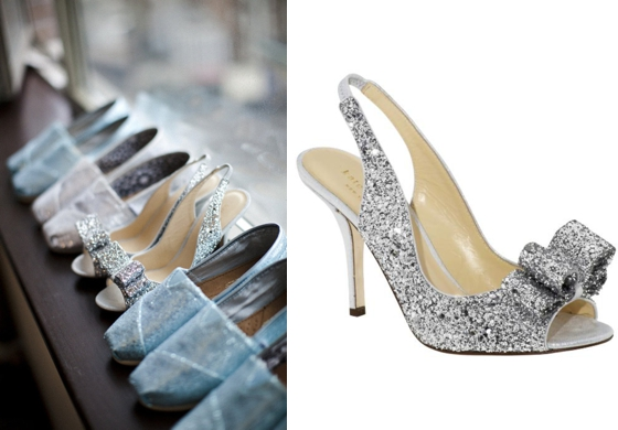Silver Shoes Wedding 3 Trend Kate Spade A Love