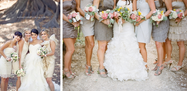 Mixed Neutral Bridesmaid Dresses