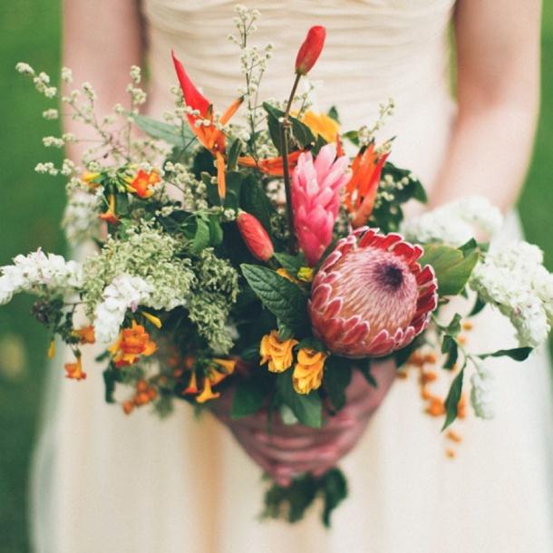 Protea Wedding Flowers: Southboundbride-protea-bouquets-16