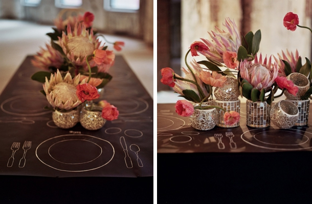 Ten Protea Centerpieces