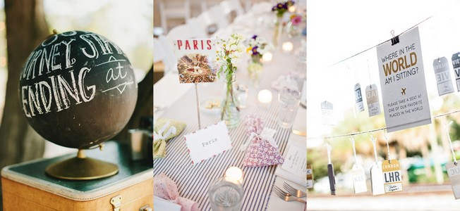 Travel Themed Wedding Ideas