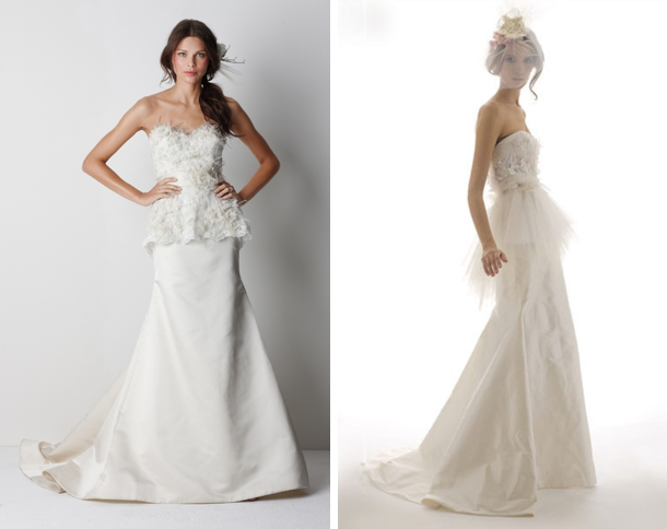 Peplum wedding dresses junglespirit Choice Image