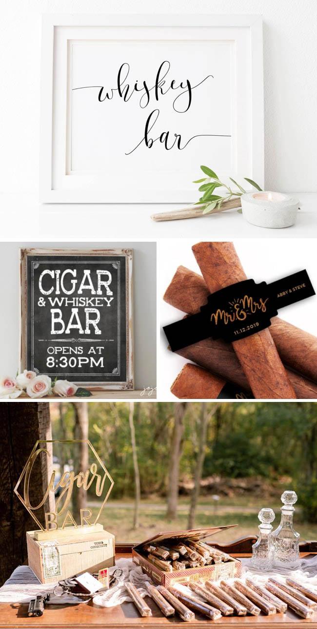 Dessert-Table-Alternatives-Whisky-Cigar-Bar-Signage