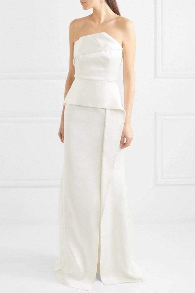 20 Peplum Wedding Dresses   SouthBound Bride