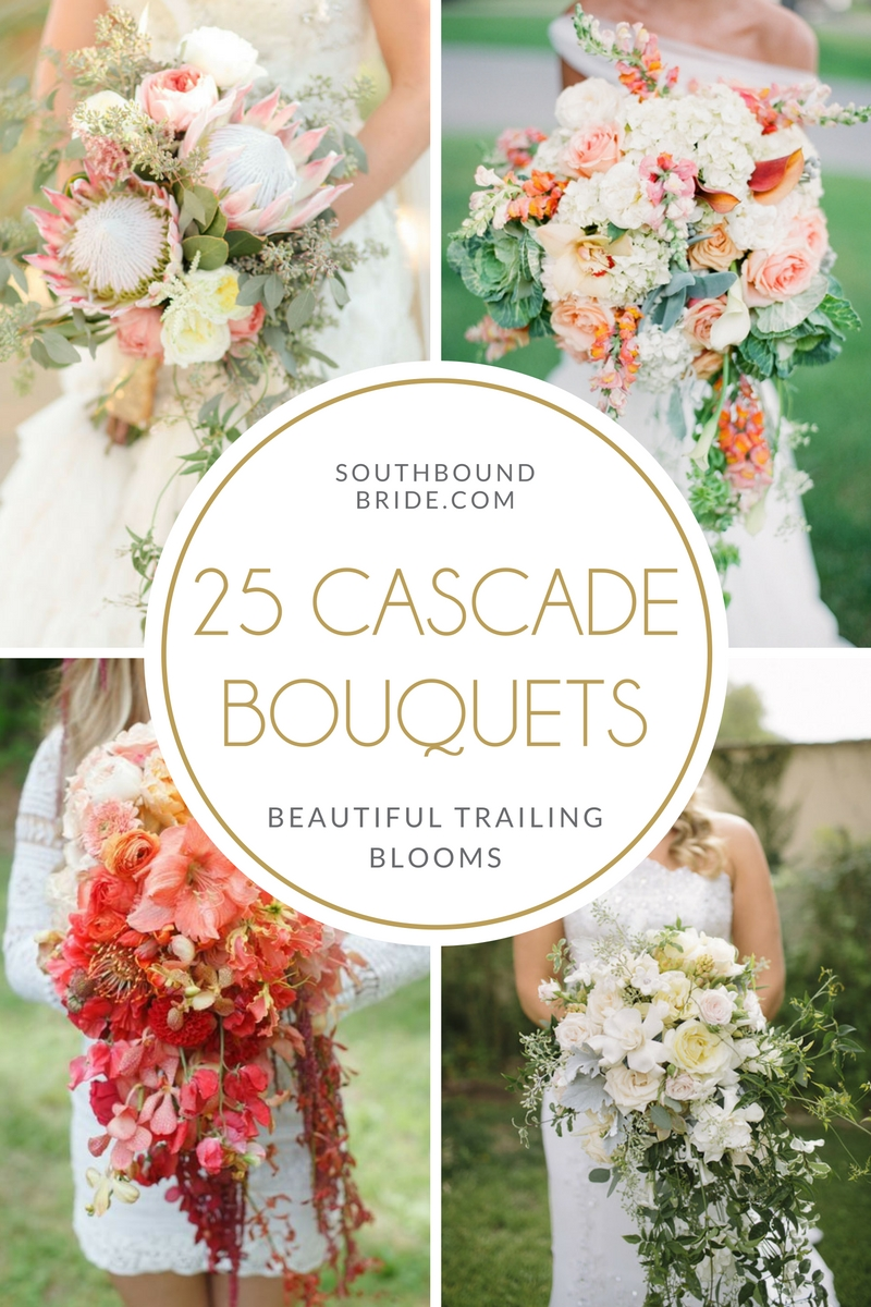 25 Gorgeous Cascade Wedding Bouquets