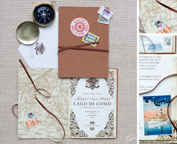 Travel Themed Wedding Invitations & Save the Dates