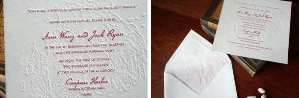 and speaking of gorgeous letterpress how amazing is this topographical map letterpress invite such a clever spin on the map idea and so pretty - Travel Themed Wedding Invitations
