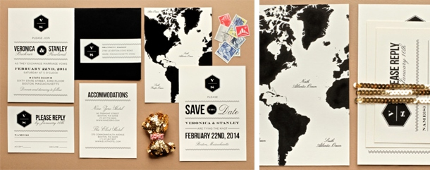 Travel Themed Wedding Invitations Save the Dates