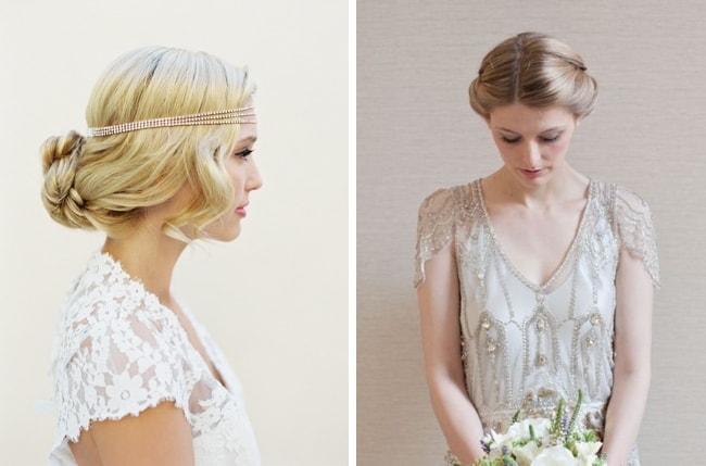 Flapper Wedding Hair