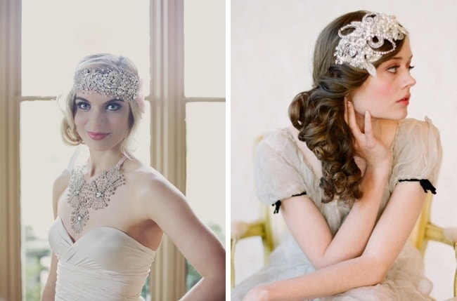 1920s Gatsby Glam Bridal Hair Inspiration Southbound Bride