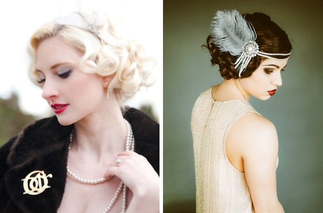 Great Gatsby Bridal Hairstyle