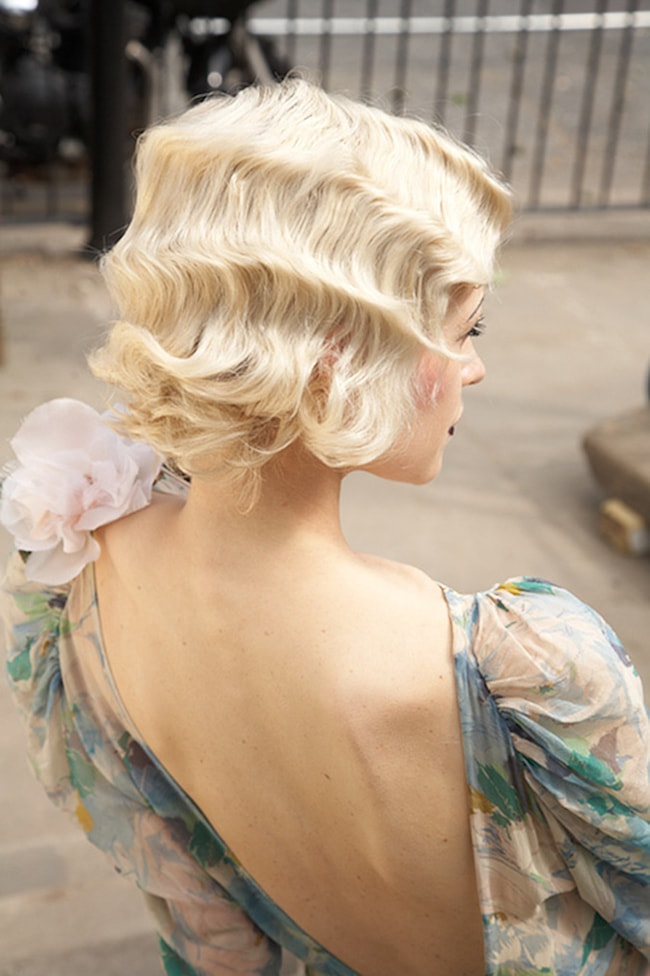 Great Gatsby Bridal Hairstyle Finger Waves