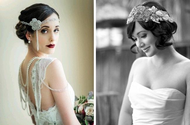 20s Inspired Bridal Hair
