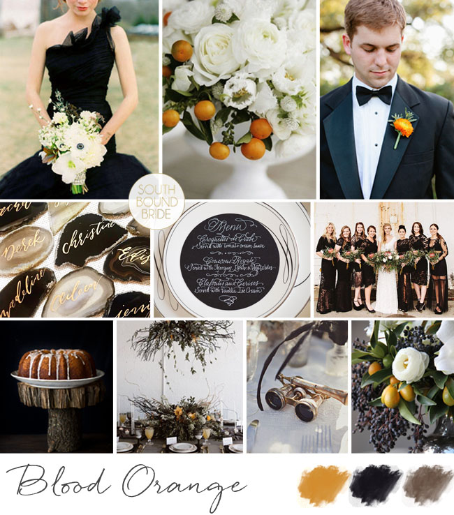 Blood Orange Elegant Halloween Wedding Inspiration Board | SouthBound Bride