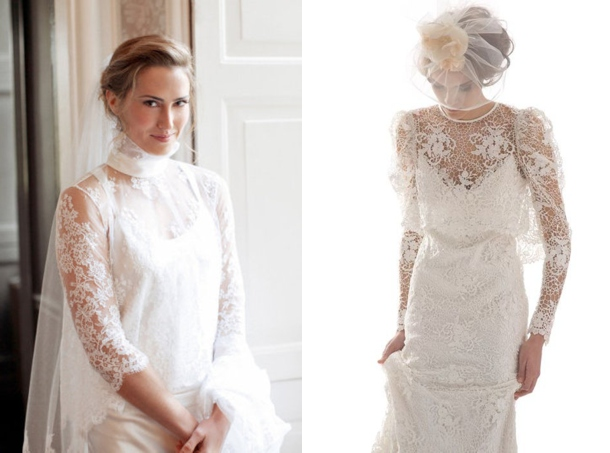 A roundup of our favourite lace and buttons Victorian-inspired bridal looks.