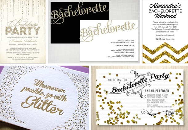 Hen Party Theme Glitter Glam – Hen Party Invitation Ideas