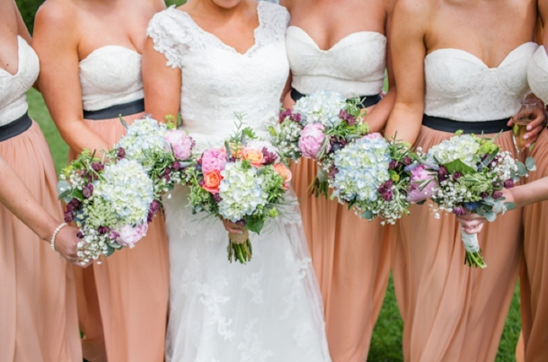 Two Tone Bridesmaid Dresses