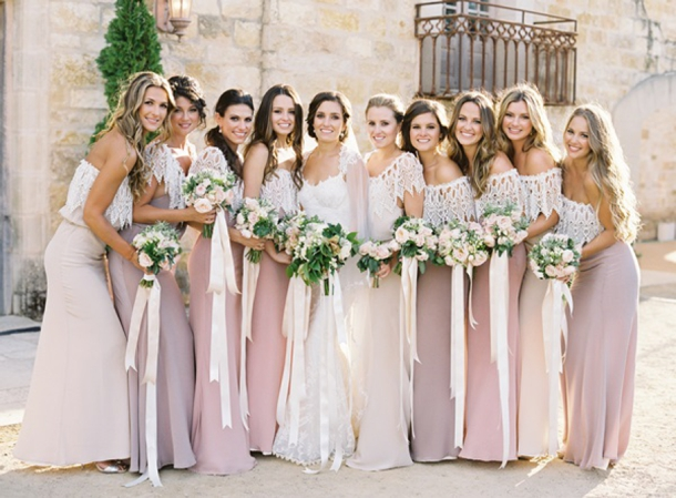 Two-Color Bridesmaid Dresses
