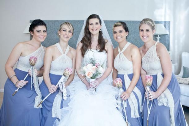 009a Two Tone Colour Block Bridesmaid Dresses Southboundbride
