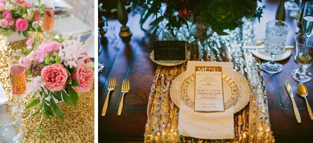 Sequin Table Linens