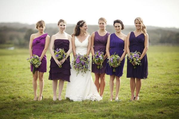 4c9357d89ee Berry   Jewel Tone Bridesmaid Dresses