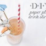 DIY Paper Plane Drink Stirrers