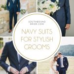 Navy Suits for Stylish Grooms