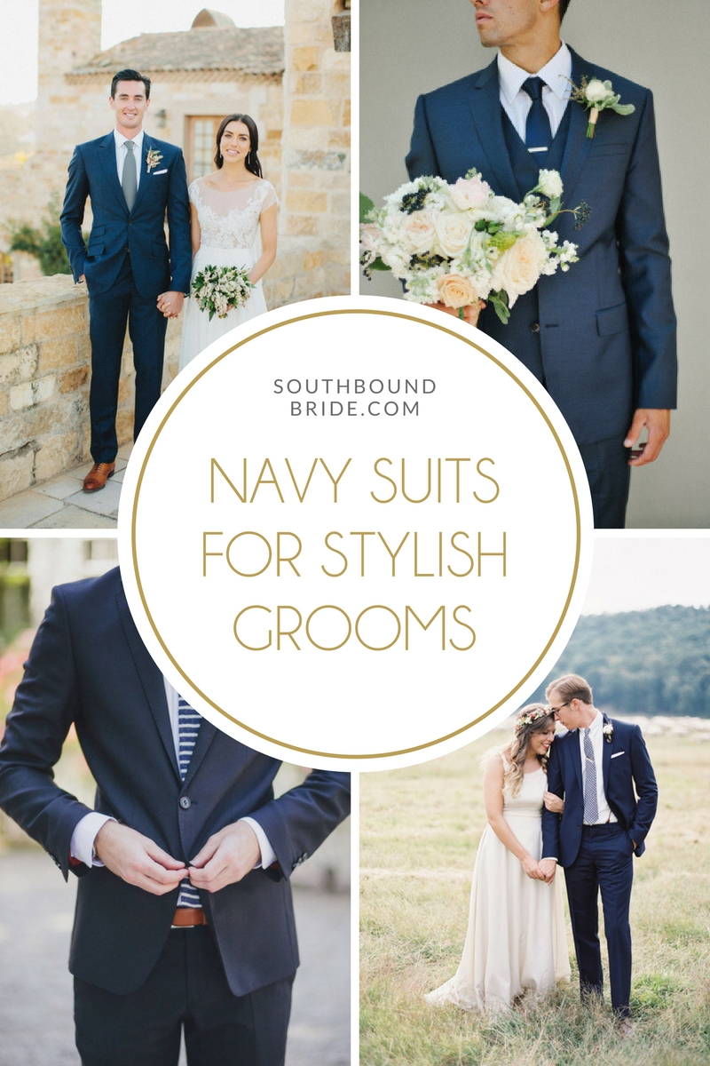 Navy Suits for Grooms | SouthBound Bride