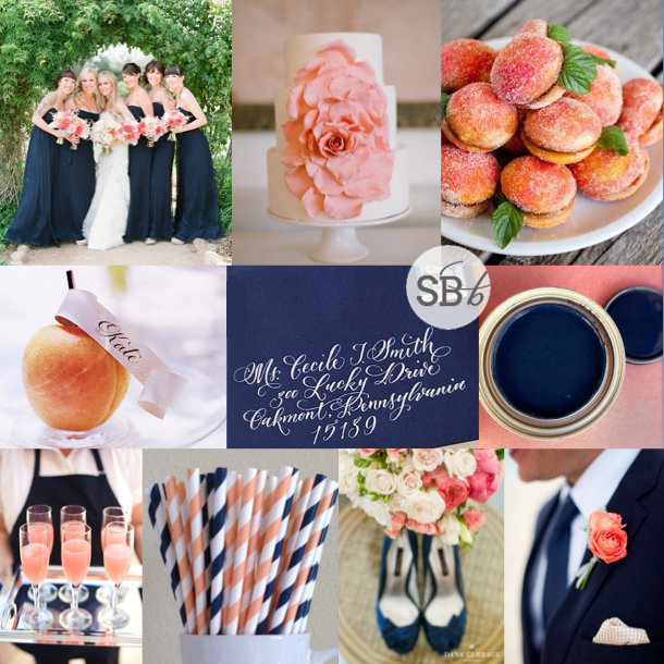 91 Best Coastal Color Inspiration Navy Teal Orange And Grey Images On Pinterest: Inspiration Board: Navy, Peach & Apricot