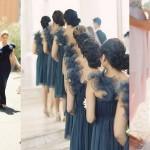 Asymmetric Skirts & Neckline Bridesmaid Dresses