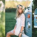 Boho Campervan Bridal Shoot by Brandon Scott Photography