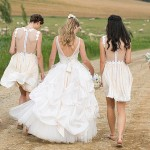 Illusion Neckline & Statement Back Bridesmaid Dresses