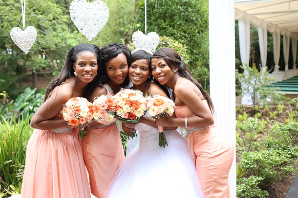 Pretty Peach Amp Traditional Zulu Weddings By Vita Bella